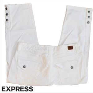 Express X2 White Cropped Jeans